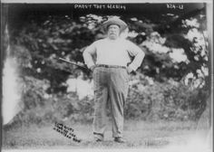 webofhistory:  William Howard Taft holding a golf club in 1909. He looks a little like Robotnik (Dr. Eggman) to me.
