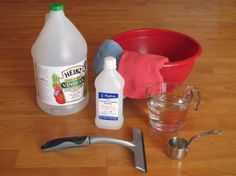 Window Cleaner | The Calico Cottage (also try equal parts vinegar and alcohol - no water)