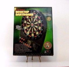 Generation Electronic Desktop Dartboard 20 Games LCD Display Voice and Sound #Generation