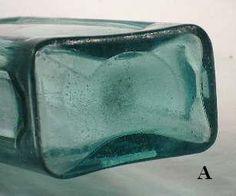 Antique Glass Bottles, Antique Glassware, Old Bottles, Vintage Bottles, Glass Jars, Clear Glass, Chalk Paint Mason Jars, Painted Mason Jars, Bottle Maker