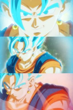 Vegito Blue!  Dragon Ball Super IPhone Wallpaper for your enjoyment! Collage made with Moldiv app