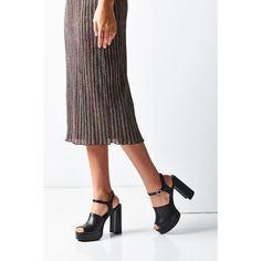 Serra Platform Heel ($79) ❤ liked on Polyvore featuring shoes, sandals, peeptoe shoes, block heel sandals, leather sandals, platform shoes and chunky platform shoes