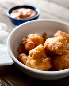 """Rhode Island clam cakes recipe-the author even mentions Galilee, RI where my father always has to go when visiting his home state-George's of Galilee has the BEST clam cakes and """"chowdah"""" right on the water, clams down the road, waiting to be harvested! Shellfish Recipes, Seafood Recipes, Cooking Recipes, Canned Clam Recipes, Squid Recipes, Copycat Recipes, Rhode Island Clam Cakes Recipe, Island Recipe, Seafood Dishes"""