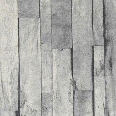 Linlook m grå plankeprint