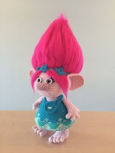 Crochet Troll Clothes  Poppy Dress and by LittleTumbleFriends