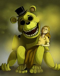 FNAF - Golden Freddy by LadyFiszi.deviantart.com on @DeviantArt
