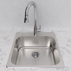 20 Kitchen Sink American standard 20 gauge single basin drop in or undermount cantrio single bowl 20 stainless steel undermount kitchen sink workwithnaturefo