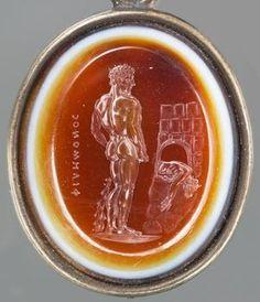 An ancient Roman sardonyx gem depicts Theseus gazing at the defeated Minotaur. (Kunsthistorisches Museum Vienna)