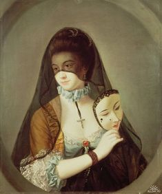 """""""The Fair Nun Unmasked"""" by Henry Robert Morland, c. 1769"""