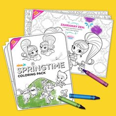 Nick Jr. Fan Club Exclusive: Adult Coloring Pages and Kid-Friendly Springtime Coloring Pack