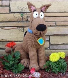 Scooby Doo amigurumi crochet pattern by Erin's Toy Store