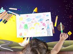 Mit dieser Tischfolie werden selbst die langweiligen Hausaufgaben zu einem Erlebnis! #IKEAhack #tischfolie #spacerocket