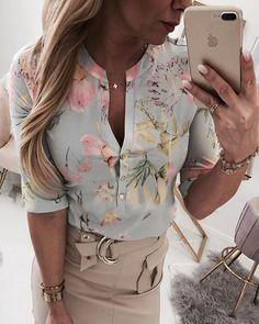 Shop Sexy Trending Tops – IVRose offers the best women's fashion Tops deals Look Fashion, Fashion Outfits, Womens Fashion, Fashion Flats, Fashion Clothes, Tops Online Shopping, Pattern Fashion, Plus Size Fashion, Work Wear