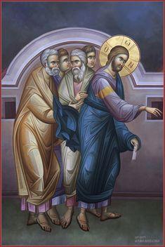 Mihail Alivizakis – icoana Religious Images, Religious Icons, Religious Art, Byzantine Icons, Byzantine Art, Writing Icon, Pictures Of Jesus Christ, Life Of Christ, Christian Religions