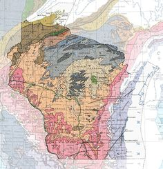 Wisconsin Geologic Map On the whole, Wisconsin has America's oldest rocks beneath its glacial cover of sand and gravel.