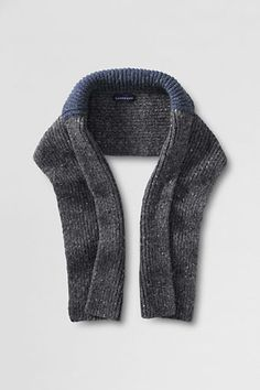 Men's Alpaca Collar Scarf from Lands' End  absolutely love this shaped collar scarf... would keep hub nice and toasty :) $59 #WishPinWin