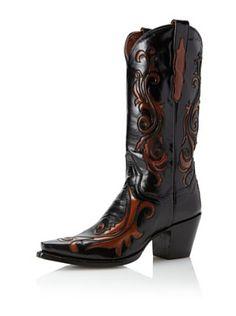 Dan Post Women's Scroll Western Boot (Black)