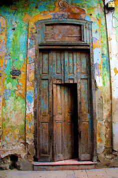 Windows on the World - harvgreenberg Cool Doors, Unique Doors, Rustic Doors, Wooden Doors, Entrance Doors, Doorway, When One Door Closes, Vintage Doors, Door Gate