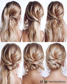 Gorgeous and Easy Homecoming Hairstyles Tutorial Long Hair - hair/make-up inspir., Gorgeous and Easy Homecoming Hairstyles Tutorial Long Hair - hair/make-up inspir. Low Bun Wedding Hair, Diy Bridal Hair, Easy Wedding Updo, Wedding Guest Updo, Diy Wedding Updos For Long Hair, Bridesmaid Hair Updo Elegant, Bridesmaid Hair Medium Length, Hairdo Wedding, Hair Updos For Weddings Guest