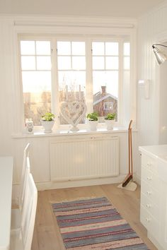 White #Shutters would look lovely here, and help with the bight sun in the summer months.