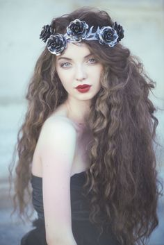 woman with flowers in hair - Google Search