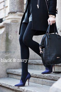 black & navy <3