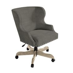 Suzanne Kasler Alexandra Desk Chair with Pewter Nailheads