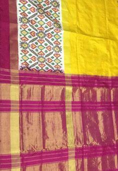 Multicolor Handloom Ikat Pure Silk Saree