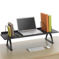 Safco Value Mate Desk Riser, 100-Pound Capacity, 42 x 12 x 8, Black                                                                                                                                                                                 Plus