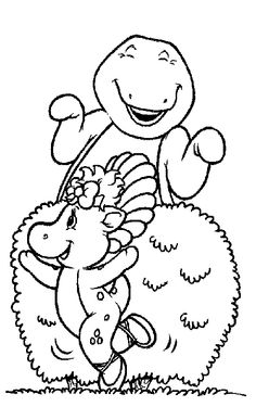 sarah king anderson cute barney coloring pages for the kiddo