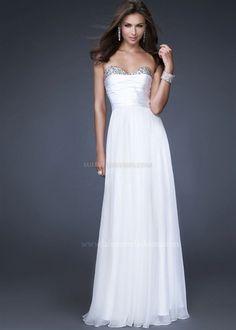 Marvelous Sweetheart Embellished White Chiffon Dresses. suit dresses,dress suit,suiting dresses,suiting dress