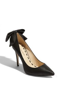 i love black high heels & bows so these shoes are a match made in heaven