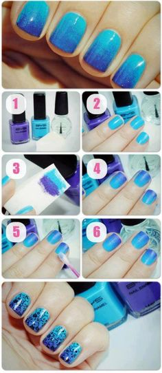 How to do ombre nails - 14 tutorials