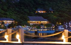 Six Senses Ninh Van Bay, Vietnam - a secluded resort accessible only by boat, positioned on the East Vietnam Sea