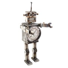 We love vintage and we love robots. So obviously we're obsessed with this robot clock.