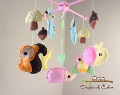 Baby Crib Mobile Baby Mobile Decorative Baby by dropsofcolorshop