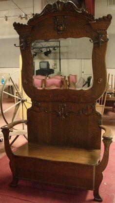 76 Best Antique Hall Trees Images Antique Furniture