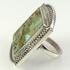 Ajax Turquoise Ring by Stewart Yellowhorse - Garland& Indian Jewelry Jewelry Box, Jewelry Rings, Silver Jewelry, Turquoise Rings, Southwestern Style, Whistles, Native American Jewelry, Indian Jewelry, Navajo