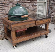 Outdoor Kitchen Discover Cypress BBQ Grill or Smoker Work and Serving Table with Drawer For Big Green Egg and Kamado Joe Grills Cypress BBQ Grill or Smoker Work and Serving Table with Green Egg Grill, Big Green Egg Table, Green Eggs, 4 H, Pick Up, Granite, Plancha Grill, Kamado Joe, Kamado Grill