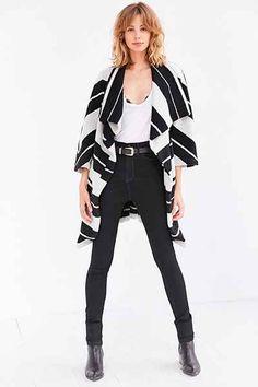 BB Dakota Kendall Striped Wrap Coat - Urban Outfitters