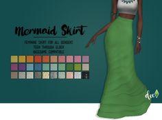 Mermaid Skirt at Deetron Sims • Sims 4 Updates