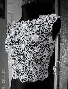 Irish lace crochet top