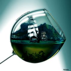 Sailing in the wine glass by ~soliter on deviantART