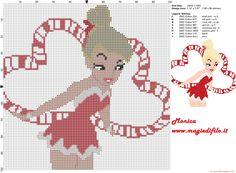 Tinkerbell Navidad 2 patrón punto de cruz