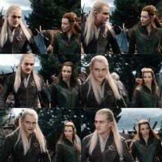 Legolas and Tauriel Kili Hobbit, Legolas And Tauriel, Thranduil, The Hobbit, Hobbit Hole, Fellowship Of The Ring, Lord Of The Rings, Misty Eyes, Elfa
