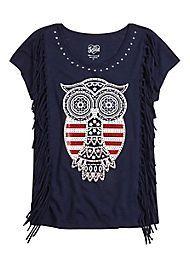 #Justice patriotic owl t shirt