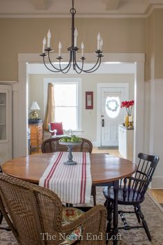 The North End Loft: Our New Dining Room Chandelier