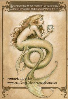Kaffee Mermaid von Renae Taylor...