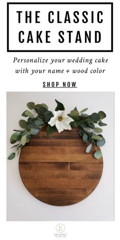 We're obsessed! This lovely personalized classic wood cake stand is the perfect centerpiece for dis Wood Wedding Cakes, Wedding Cake Stands, Wood Cupcake Stand, Cupcake Stands, Stain Colors, Wood Colors, Wood Router, Cnc Router, Burgundy Wedding Theme