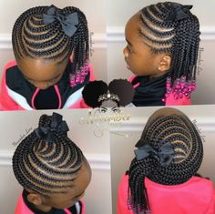 Hairstyles For School Videos Mornings - Hairstyles Box Braids Hairstyles, Little Girl Braid Hairstyles, Toddler Braided Hairstyles, Toddler Braids, Braids For Kids, My Hairstyle, African Baby Hairstyles, Kids Braids With Beads, Children Braids